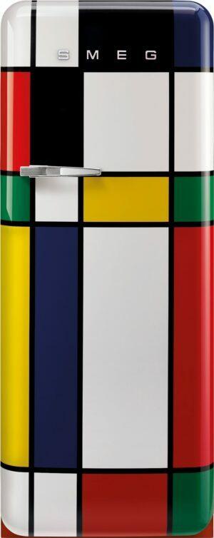 Smeg 50 s style køleskab med fryser FAB28RDMC5 (Mondrian)