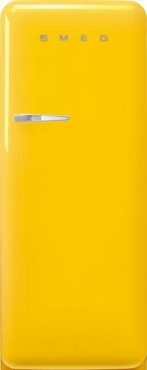 Smeg 50 s style køleskab med fryser FAB28RYW5 (gul)