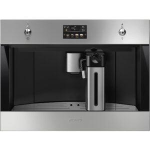 Smeg 60 cm indbygget kaffemaskine i rustfrit stål