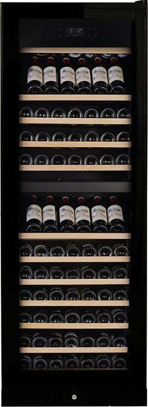 Temptech Elegance vinkøleskab E1000DRB (sort)